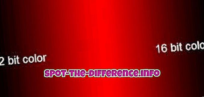 Razlika između 16-bitne i 32-bitne boje