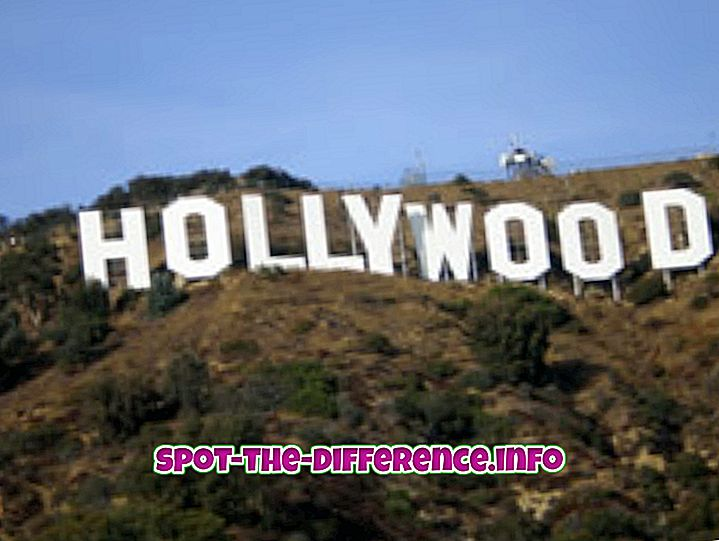 comparații populare: Diferența dintre Hollywood și Bollywood