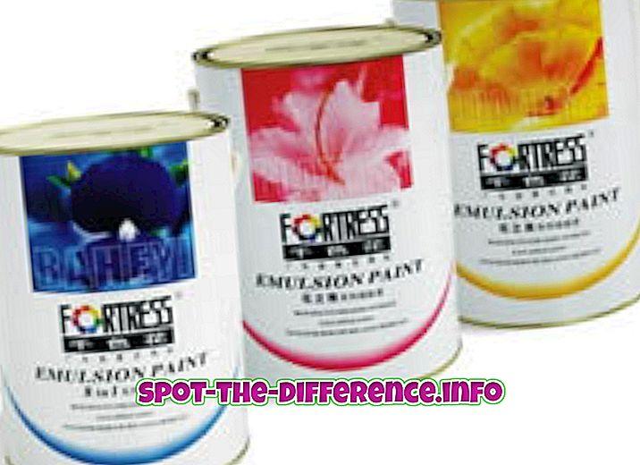 populaarsed võrdlused: Erinevus emulsiooni ja värvi vahel