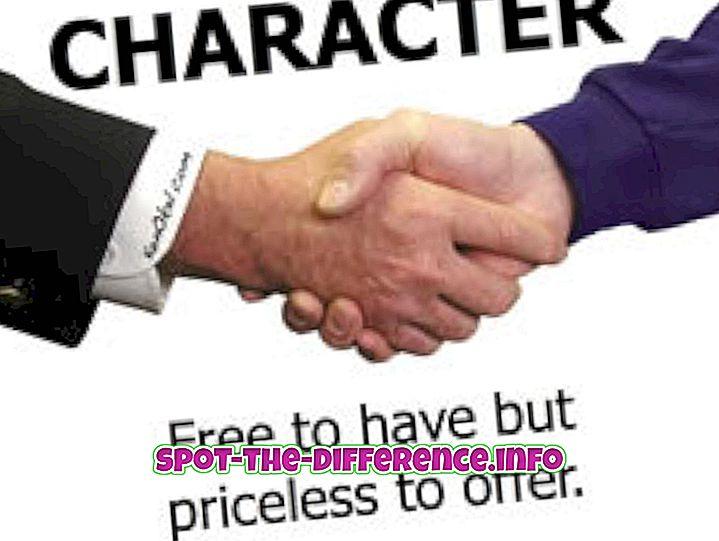 Разлика између карактера и понашања