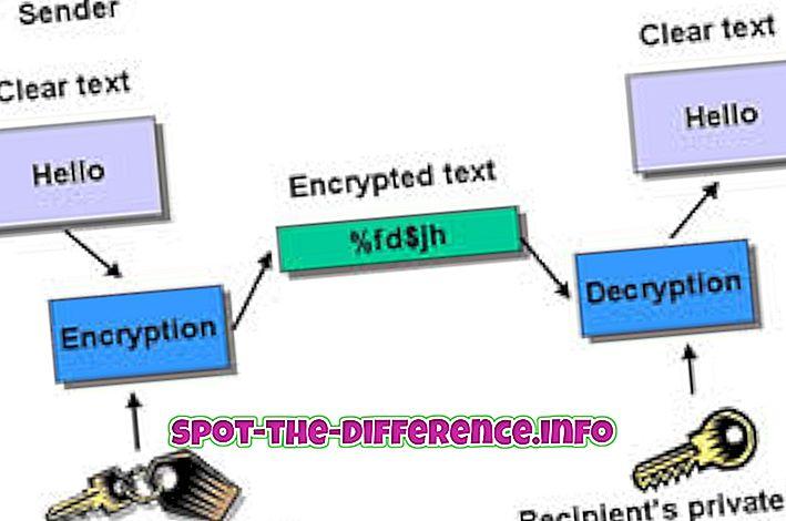 Forskjell mellom kryptering, koding og Hashing