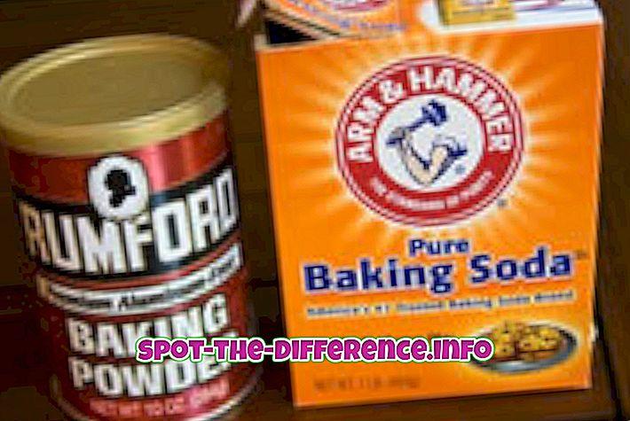 Разлика између соде за печење и праха за печење