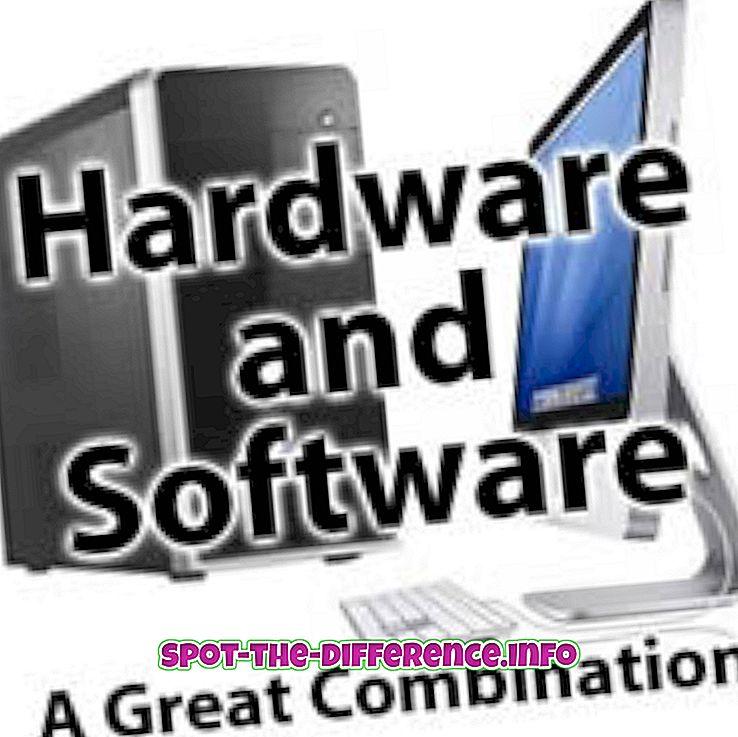 Starpība starp aparatūru un programmatūru