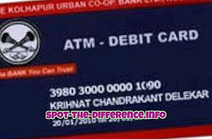 beliebte Vergleiche: Unterschied zwischen Debit- und ATM-Karte