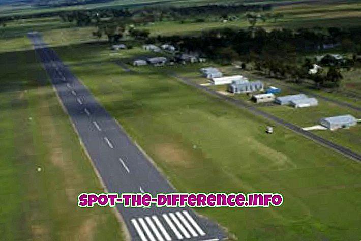 Разлика између аеродрома и аеродрома