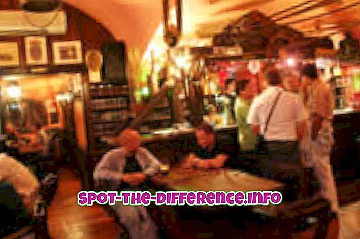 comparaisons populaires: Différence entre pub et club