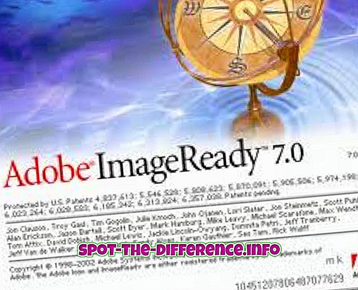 ImageReadyn ja Photoshopin välinen ero