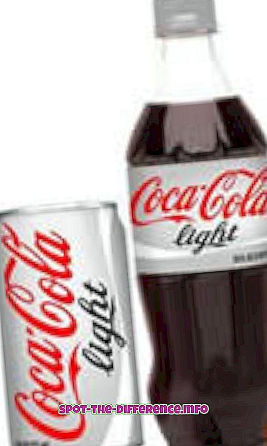 Erinevus Diet Coke ja Coke Zero vahel