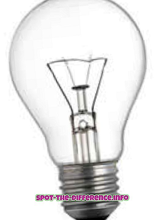 beliebte Vergleiche: Unterschied zwischen Glühlampen und Fluoreszenzmitteln