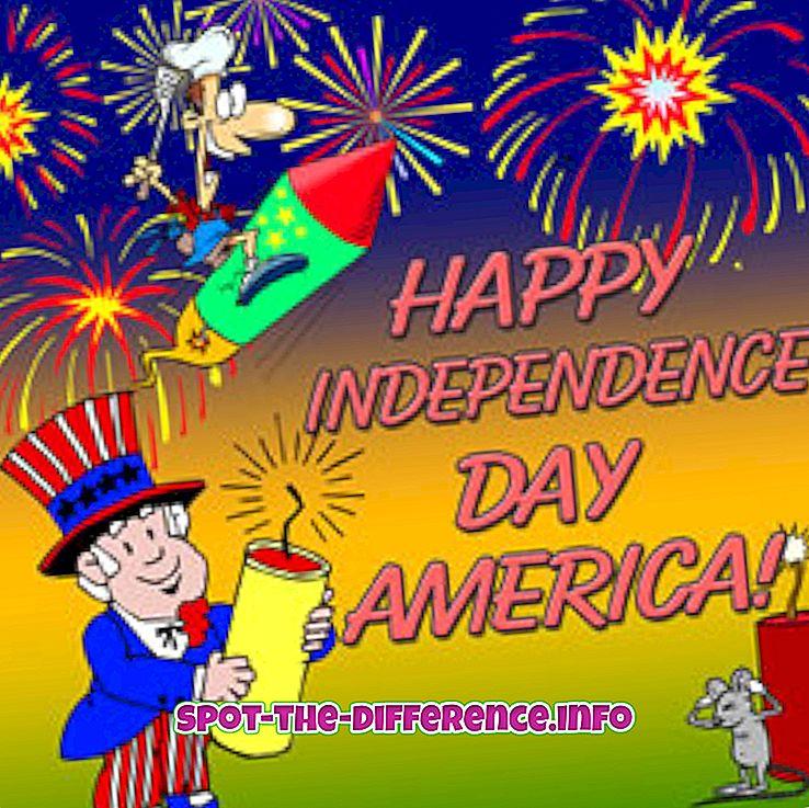 대중적 비교: 독립 기념일과 공화국 기념일의 차이점