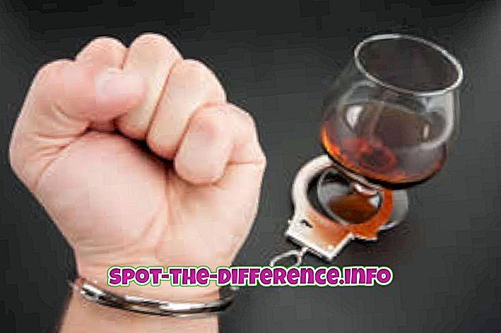 comparaisons populaires: Différence entre ivre et alcoolique