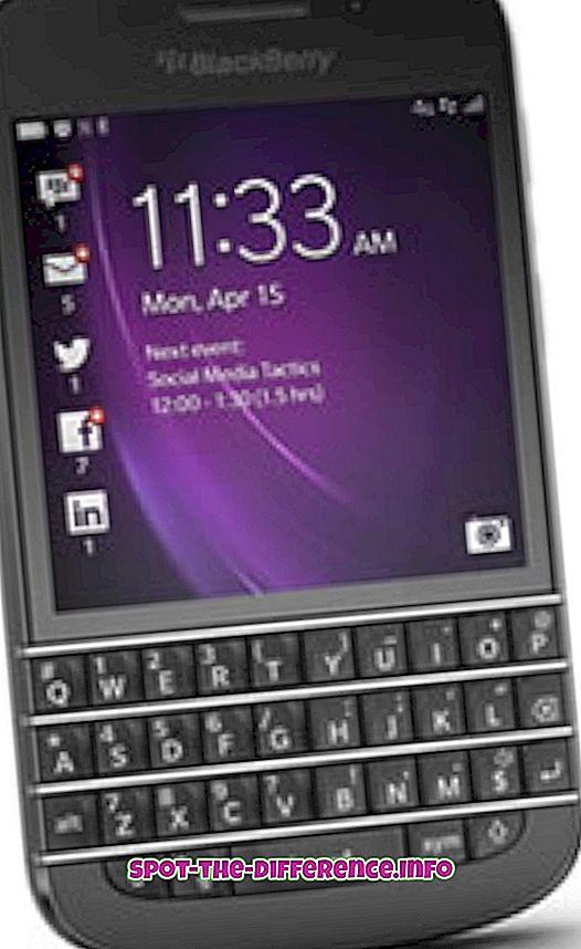 ความแตกต่างระหว่าง Blackberry Q10 และ iPhone 5
