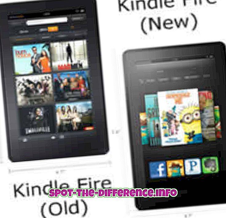 Rozdiel medzi Kindle Fire 1. a 2. generácie