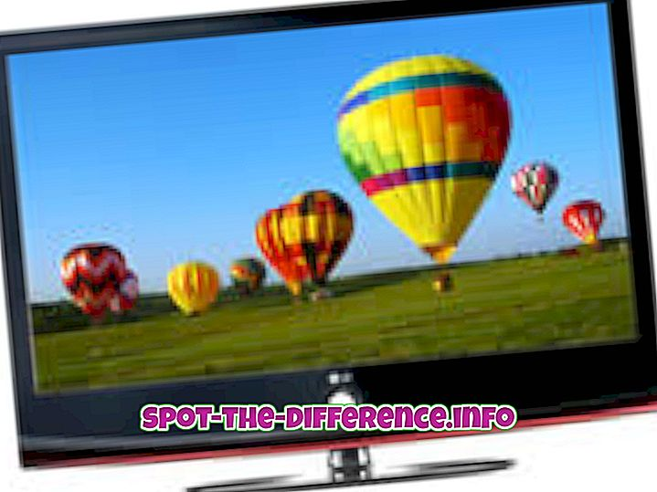 populære sammenligninger: Forskel mellem LCD og LED-tv