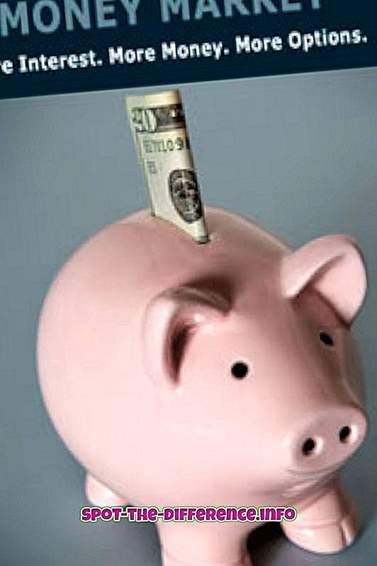 Différence entre compte de marché monétaire et compte d'épargne