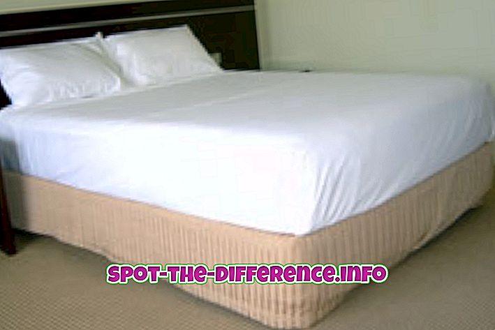 Diferența dintre foaia de pat și capacul patului