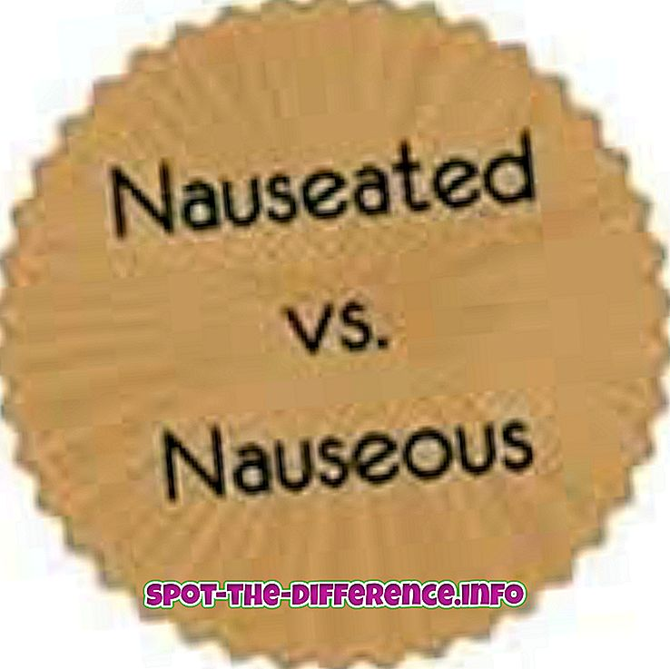 Nauseated és Nauseous közötti különbség