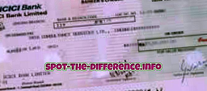 Sự khác biệt giữa Lệnh thanh toán và Dự thảo nhu cầu