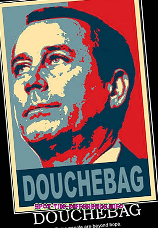 δημοφιλείς συγκρίσεις: Διαφορά μεταξύ Douche και Douchebag