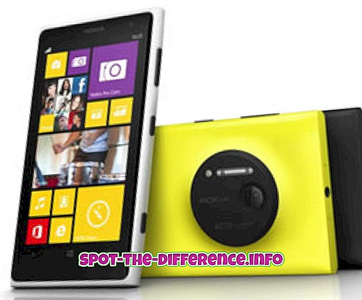 Erinevus Nokia Lumia 1020 ja Nokia Lumia 928 vahel