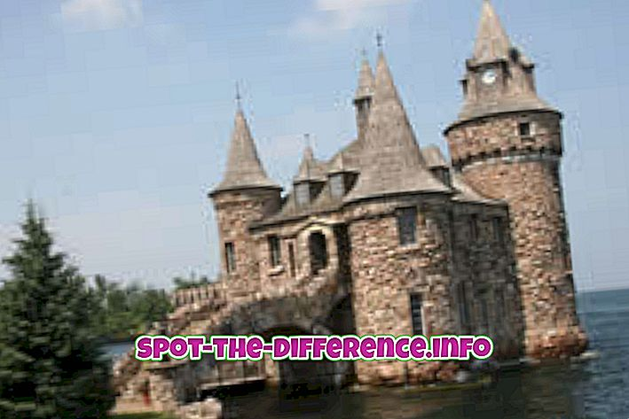 Diferența dintre Castel și Palat