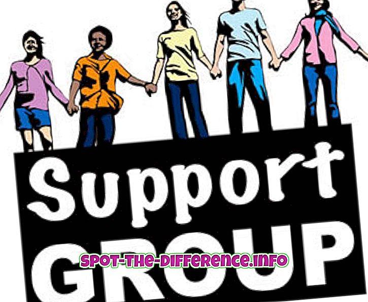 δημοφιλείς συγκρίσεις: Διαφορά μεταξύ ομάδας και ομάδας