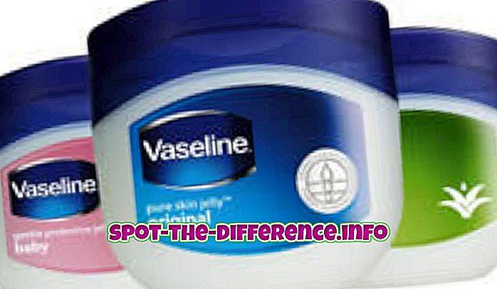 Різниця між вазеліном і вазеліном