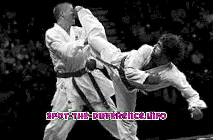 Forskjellen mellom Kickboxing og Karate