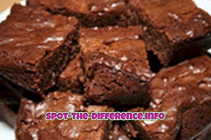 Starpība starp Cake un Brownie