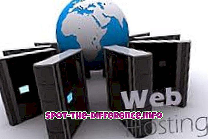 népszerű összehasonlítások: A Web Hosting és az E-mail tárhely közötti különbség