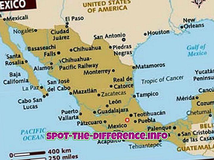 Разлика између Мексика и Новог Мексика