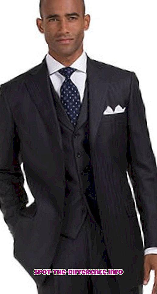 Rozdíl mezi obleky a Blazery