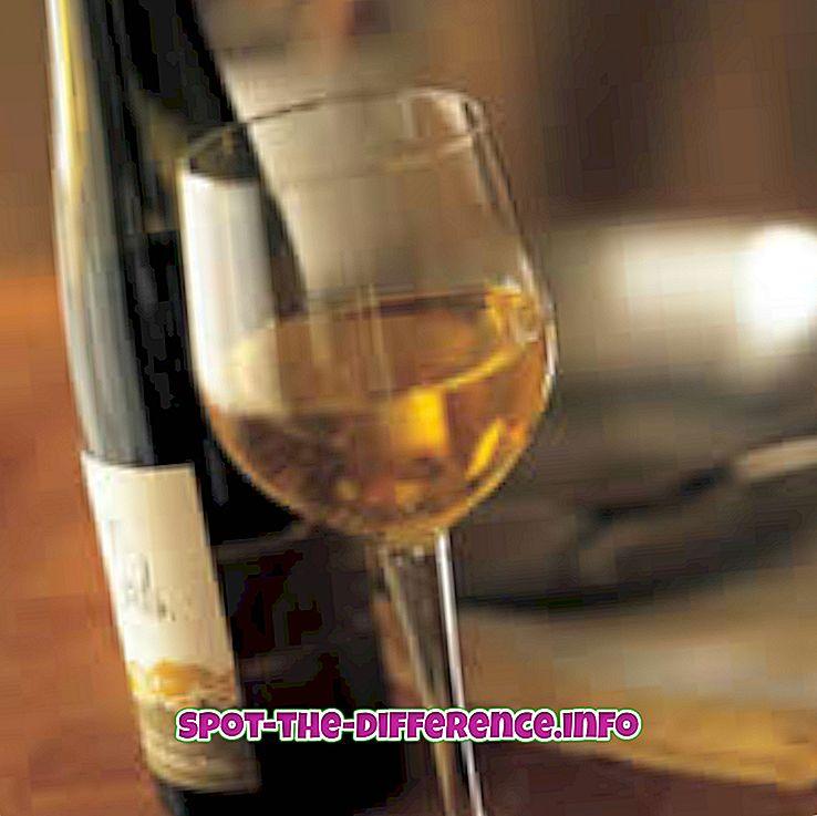 Punaisen ja valkoisen viinin välinen ero