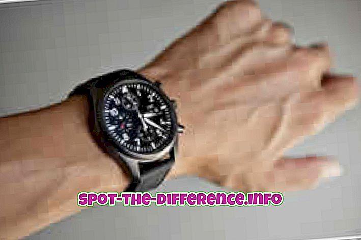 популярні порівняння: Різниця між годинником і годинником