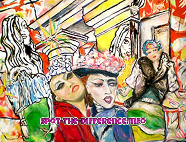 confronti popolari: Differenza tra arte contemporanea e tradizionale