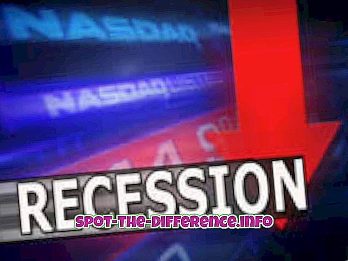 Razlika između recesije i depresije