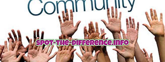 popularne porównania: Różnica między społecznością a miejscowością