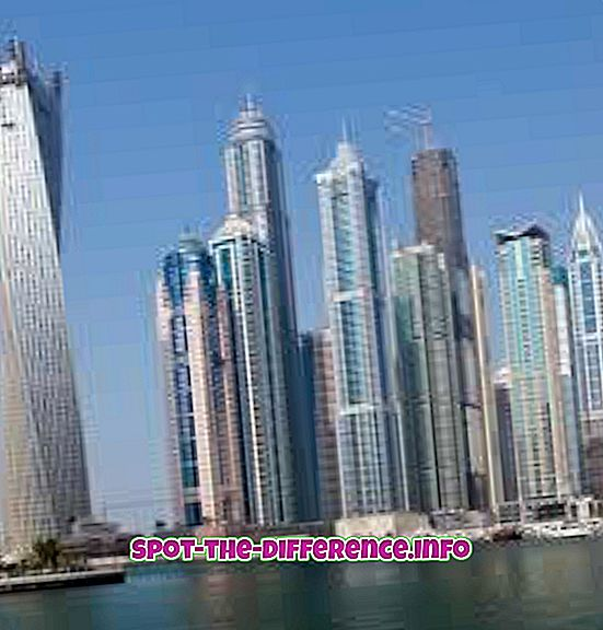 populaarsed võrdlused: Erinevus Dubai ja AÜE vahel
