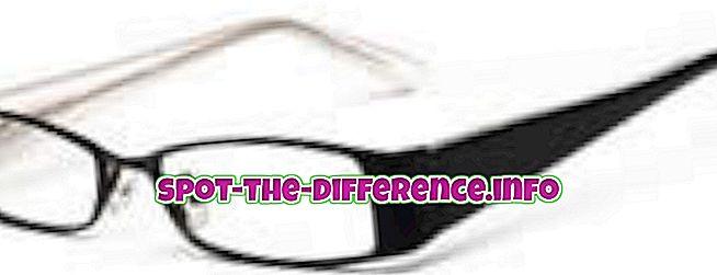populære sammenligninger: Forskjellen mellom briller og kontakter