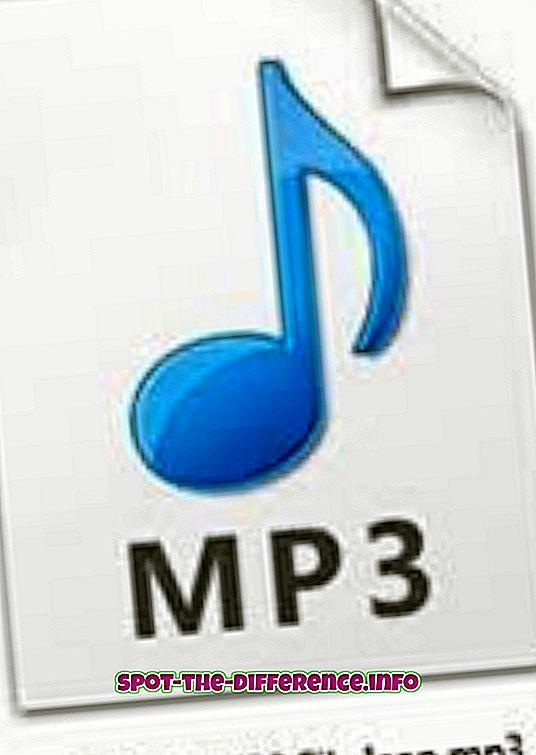 Forskjell mellom MP3 og MP4