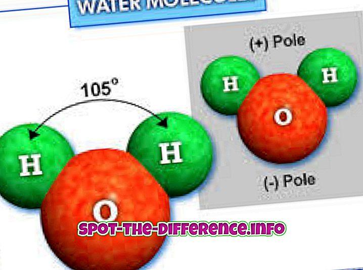 popularne porównania: Różnica między lodem a wodą