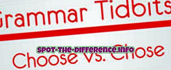 Разница между выбором и выбором