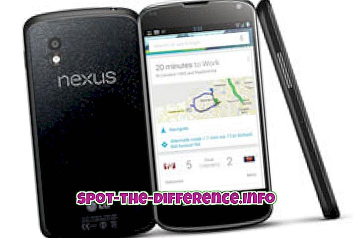 popüler karşılaştırmalar: Nexus 4 ve Nexus 5 arasındaki fark