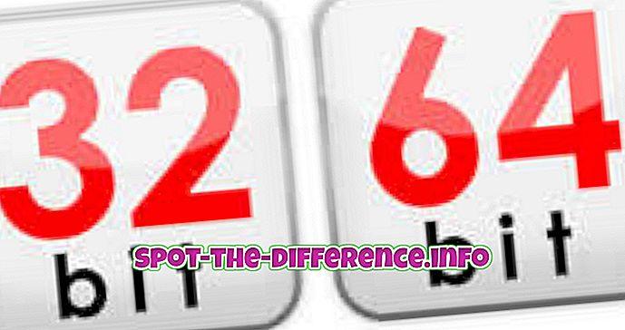 populaarsed võrdlused: Erinevus 32 bitist 64 bitini