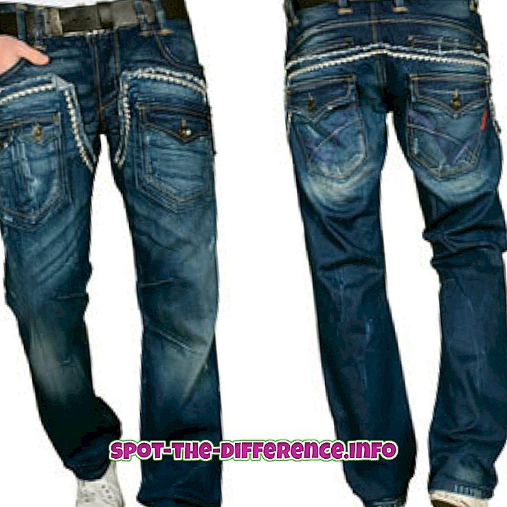 Diferența dintre jeans și chinos