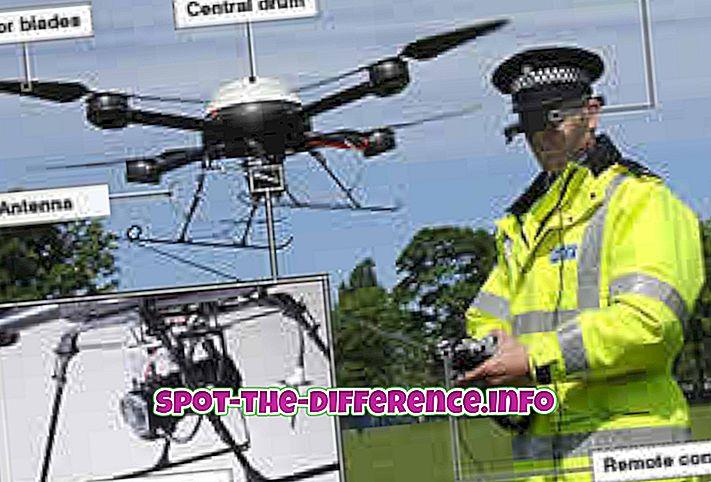 tautas salīdzinājumi: Starpība starp Drone un Robot