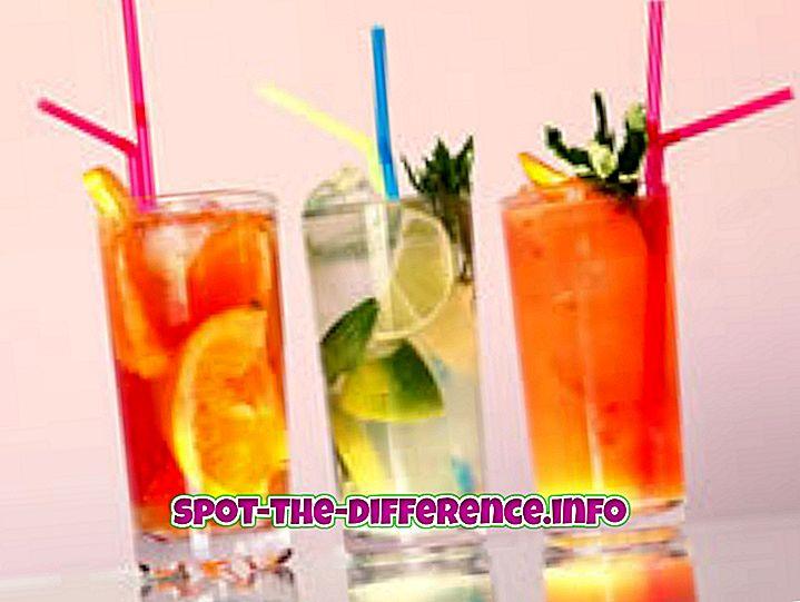 tautas salīdzinājumi: Starpība starp kokteili un kokteili