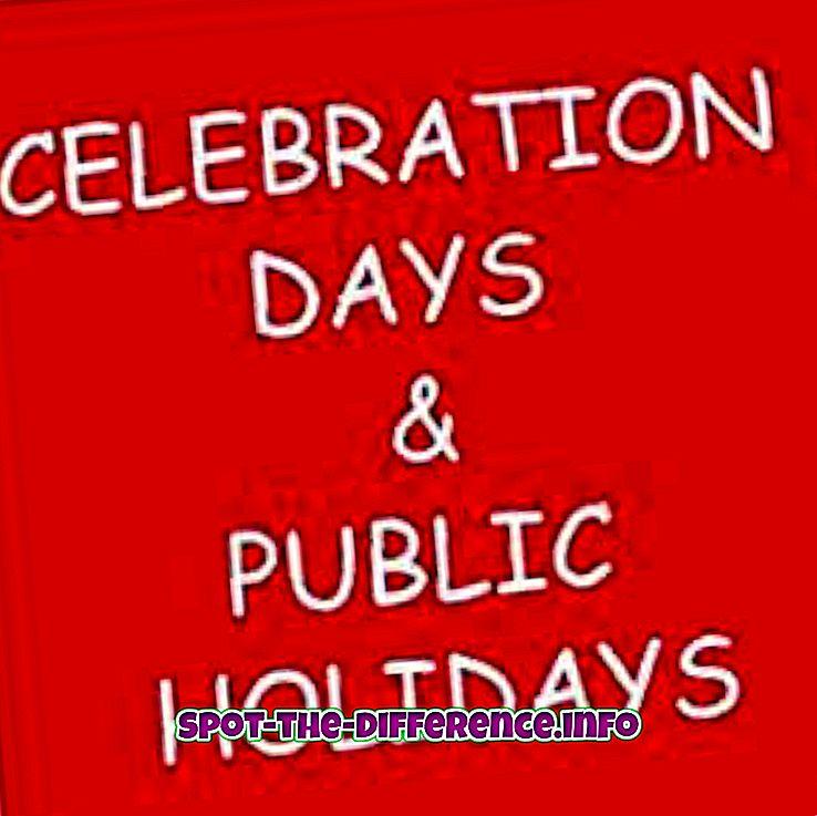 tautas salīdzinājumi: Starpība starp valsts svētku un valsts svētkiem