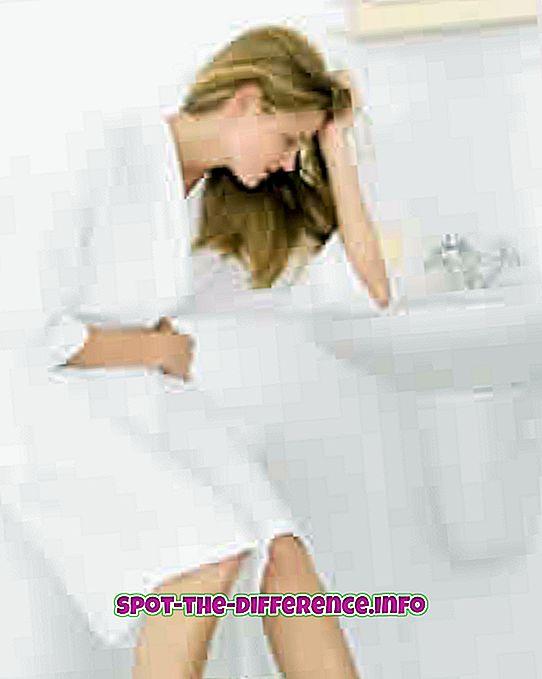 Différence entre la nausée et le vomissement