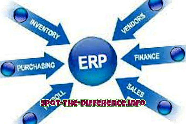 populaarsed võrdlused: Erinevus SAP ja ERP vahel